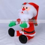 X'mas Santa Claus with body swing & hands and head moving, electronic & movement plush toys