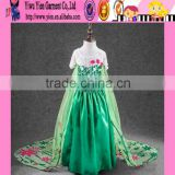 2015 wholesale floor length Princess baby girl dress real photo show high quality frozen dress elsa
