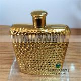 304 Stainless Steel Hip Flask Water Bottle 6oz Pattern Christmas Gold-plated Cup And Saucer
