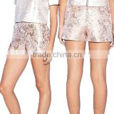 Sexy high-waisted mini gold sequin shorts wholesale short pant suits for women and young girls