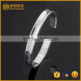 New arrivals vogue love silver plated wide bangle costume jewelry fashion bracelets for women jewellery wholesale