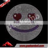 Fashion Happy Smiling Emoji Rhinestone Transfer Design Hotfix Emoji Motif For Kids Clothing