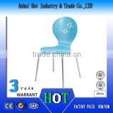 Pierced Carving Elegant Blue School Furniture High Quality Fashion Comfortable Caffee And Dining Chair