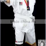 white custom taekwondo poomsae uniform