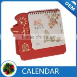 Desk calendar 2016 with sticky notes wooden advent calendar