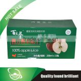 noe alcoholic pure apple juice with box with good quality