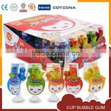 Lovely smiling face fruity bubble gum cup