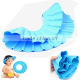 Kawachi Baby Infant Child Toddler Tearless Shampoo Shield Shower Hat Cap Wash Hair-Blue