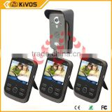 2.4Ghz 300meter kivos kdb300 video door phone outdoor camera With Pir Auto-detection Recording
