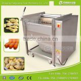 Industrial High Efficient Fresh Ginger Potato Washer and Peeler Root Vegetable Washing and Peeling Machine Fish Skin Peeler