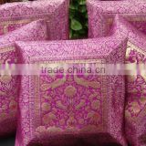 "16"" Peacock Bird BROCADE PILLOW CUSHION Cover Gift Royal India Decoration Home decor"