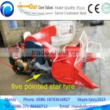 High working effciency wheat cutter mini harvester for sale