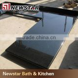 Newstar black galaxy indian granite black mirror kitchen countertops