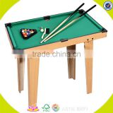 2017 Wholesale high quality kids mini wooden billiard snooker table W11A032