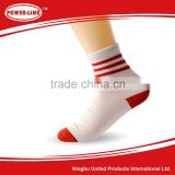 Pure cotton stripe short tube their odor-proof cotton men and women are socks,Average size of socks