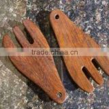 wholesale custom bamboo salad forks set