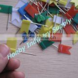 32mm Blue Green Yellow Red White Color Marker Push Map Flag Pins