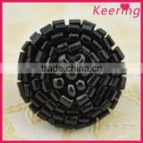 Keering garment accessories bulk price black beads button WBKA-028