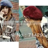Women's Lady Temperament Soft Winter Beret Hat Warm Hat Painter Cap 11 Colors 9082