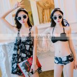 Custom Sexy Women's Patchwork Swimwear /Push Up Bikini Patchwork Bathing Suit Bandeau Beachwear