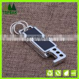 Manufacturers wholesale men's leather metal key chain Creative bottle opener key chain metal gift
