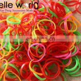 Elastic Hair Bands Braiding Rubber Colour Mix Tiny Poly Small