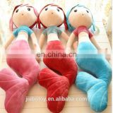 Promotional Hand mermaid toy Knitted Toys crochet, Hang human Dolls mermaid Manufacturer cartoon colourful Pattern