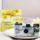 AP001 wholesale Cherry Blossom Cheap Wedding Disposable Camera