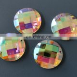 Mirror hollow glass beads with two holes