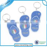 Custom printed acrylic keychain with cartoon design for promotion