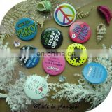 Fancy Tin Button Badge With Pin