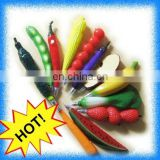 novelty fruit and vegetable ball pen with magnet
