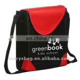 Durable Convention Messenger Tote Bags with Front pocket and flap