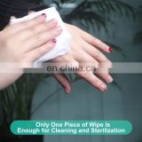 Surface Germicidal Sanitizer Ultra Compact Biodegradable Hygenic Antibacterial Clean Disinfectant Hand Wet Wipe