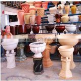 Fiberglass Flower Pot for Swimming Pool Decor FRP Pot Bellied Vase