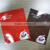 Hanging ear coffee outer packaging bag/ 3-side sealed coffee powder pouch
