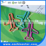 Beautiful design cute airplane paper clips