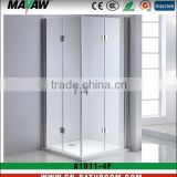 durable tempered safety glass square hinged door shower enclosure/cabin/bathroom MV-A1011-4F