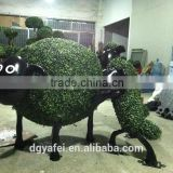 best price artificial milan animals shape grass topiary for theme park decoration wholesale