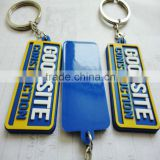 custom 2D soft PVC keychain, cheap bulk 3D rubber key rings, promotion plastic keychain