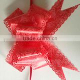 PVC Butterfly Ribbon Bows with Artificial Lace Edge for Christmas Decoration Indoor/Outdoor