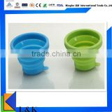 eco-friendly Foldable Silicone Water Cup/Foldable Silicone Cup/Silicone Foldable Cup for travel drinking