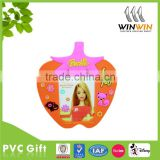 Strawberry shaped soft pvc photo frame / picture frame
