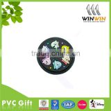 Custom apparel round rubber PVC label /patch /badge