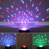 6 Color Changing RGB Crystal Magic Rotating Ball Effect LED Mini Crystal Ball Light for KTV Xmas Party Wedding