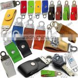 Customized leather metal flash drive, metal flash stick, newest design leather usb memory