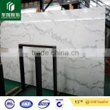 Chinese carrara guangxi white marble with black veins big slab