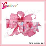 Latest design koker style wholesale butterfly pattern ribbon fashion hair net clip (XH012-019)