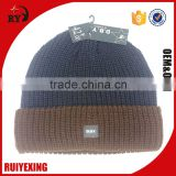 custom thick enlarge design black acrylic kintting hat