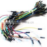 65pcs Reusable Solderless Breadboard Jumper Wire Cable for Bot Circuit Creating-Assorted Color